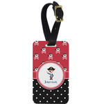 Pirate & Dots Aluminum Luggage Tag (Personalized)