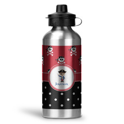 Pirate & Dots Water Bottle - Aluminum - 20 oz (Personalized)