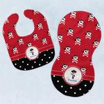 Pirate & Dots Baby Bib & Burp Set w/ Name or Text