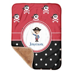 "Pirate & Dots Sherpa Baby Blanket 30"" x 40"" (Personalized)"