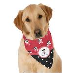 Pirate & Dots Dog Bandana Scarf w/ Name or Text