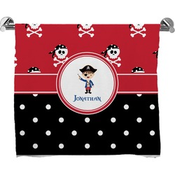 Pirate & Dots Full Print Bath Towel (Personalized)