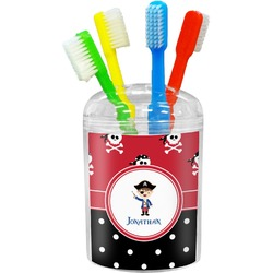 Pirate & Dots Toothbrush Holder (Personalized)