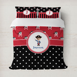 Pirate & Dots Duvet Cover (Personalized)