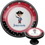 Pirate & Dots Cabinet Knob (Black) (Personalized)