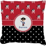 Pirate & Dots Faux-Linen Throw Pillow (Personalized)