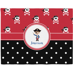 Pirate & Dots Woven Fabric Placemat - Twill w/ Name or Text