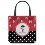 Pirate & Dots Canvas Tote Bag (Personalized)