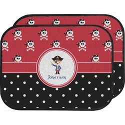 Pirate & Dots Car Floor Mats (Back Seat) (Personalized)