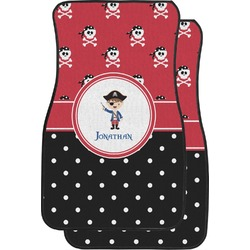 Pirate & Dots Car Floor Mats (Front Seat) (Personalized)