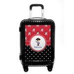 Pirate & Dots Carry On Hard Shell Suitcase (Personalized)
