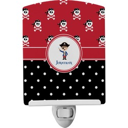 Pirate & Dots Ceramic Night Light (Personalized)