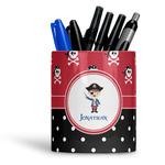 Pirate & Dots Ceramic Pen Holder