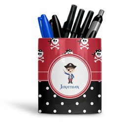 Pirate & Dots Ceramic Pen Holder