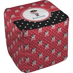 "Pirate & Dots Cube Pouf Ottoman - 18"" (Personalized)"