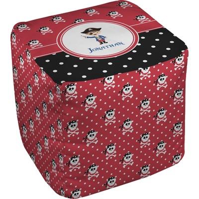 Pirate & Dots Cube Pouf Ottoman (Personalized)