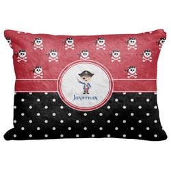 "Pirate & Dots Decorative Baby Pillowcase - 16""x12"" (Personalized)"