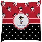 Pirate & Dots Decorative Pillow Case (Personalized)