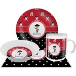 Pirate & Dots Dinner Set - 4 Pc (Personalized)
