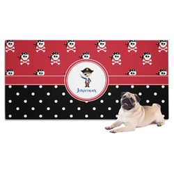 Pirate & Dots Pet Towel (Personalized)