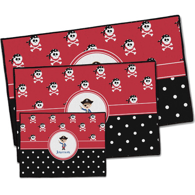 Pirate & Dots Door Mat (Personalized)