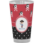 Pirate & Dots Drinking / Pint Glass (Personalized)