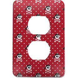 Pirate & Dots Electric Outlet Plate (Personalized)