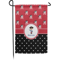 Pirate & Dots Garden Flag (Personalized)
