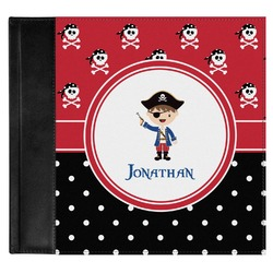 Pirate & Dots Genuine Leather Baby Memory Book (Personalized)