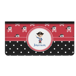 Pirate & Dots Genuine Leather Checkbook Cover (Personalized)