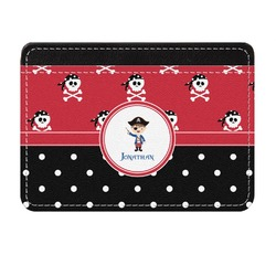 Pirate & Dots Genuine Leather Front Pocket Wallet (Personalized)