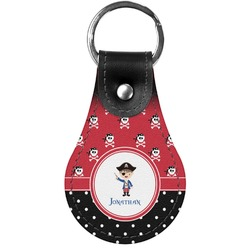 Pirate & Dots Genuine Leather  Keychain (Personalized)
