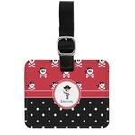 Pirate & Dots Genuine Leather Rectangular  Luggage Tag (Personalized)
