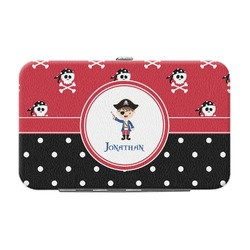 Pirate & Dots Genuine Leather Small Framed Wallet (Personalized)
