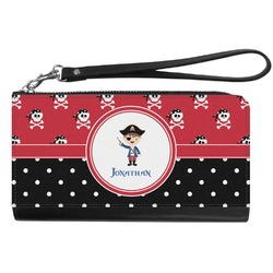 Pirate & Dots Genuine Leather Smartphone Wrist Wallet (Personalized)