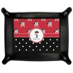 Pirate & Dots Genuine Leather Valet Tray (Personalized)