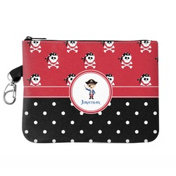 Pirate & Dots Zip ID Case (Personalized)