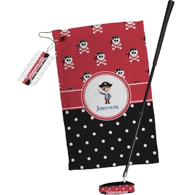 Pirate & Dots Golf Towel Gift Set (Personalized)