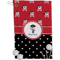 Pirate & Dots Golf Towel - Full Print (Personalized)