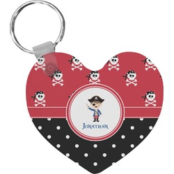 Pirate & Dots Heart Keychain (Personalized)