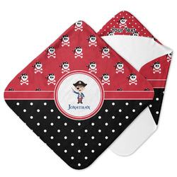 Pirate & Dots Hooded Baby Towel (Personalized)