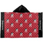 Pirate & Dots Kids Hooded Towel (Personalized)