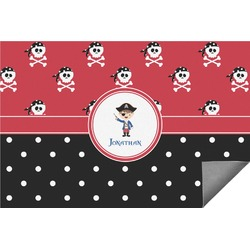 Pirate & Dots Indoor / Outdoor Rug (Personalized)