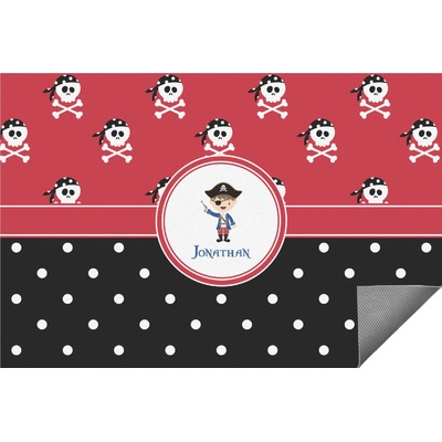 Pirate & Dots Indoor / Outdoor Rug - 3'x5' (Personalized)