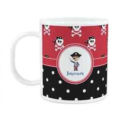 Pirate & Dots Plastic Kids Mug (Personalized)