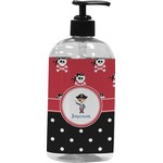 Pirate & Dots Plastic Soap / Lotion Dispenser (Personalized)