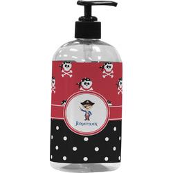 Pirate & Dots Plastic Soap / Lotion Dispenser (Personalized)