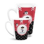 Pirate & Dots Latte Mug (Personalized)