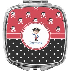 Pirate & Dots Compact Makeup Mirror (Personalized)