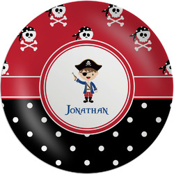 Pirate & Dots Melamine Plate (Personalized)